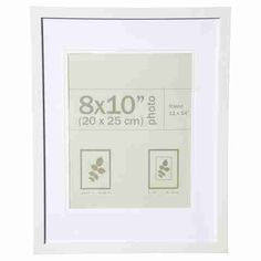 nice photo frame 8in x 10in 20cm x 25cm white