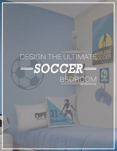 Have you checked out all of our soccer bedroom decor lately? Make your bedroom the ultimate soccer room with our personalized wall decals, room signs, pillows, and more!