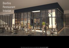 Bonfire Restaurant, Outdoor Dining, Dining Area, Windows, Interior, Room, Furniture, Design, Home Decor