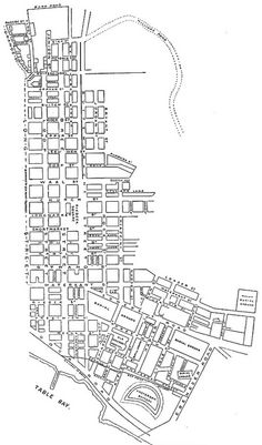 Plan of Cape Town to the Right of Long Street, Facing Table Mountain by HiltonT, via Flickr
