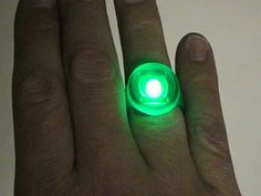 How to make a glowing Green Lantern ring. THAT WOULD HAVE BEEN HELPFUL A COUPLE WEEKS AGO FOR VBS!!!!1