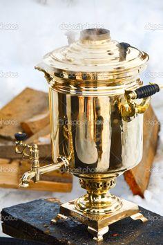 Teemaschinen Honig Alter Messing Samovar