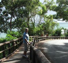 Disfrutando una caminata en, Noosa Queensland