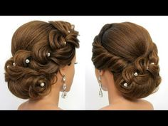 Updo Tutorials Step by Step Guide) Bridal Updo Tutorial Wedding Prom Hairstyles for Long Hair Unique Wedding Hairstyles, Prom Hairstyles For Long Hair, Long Hair Wedding Styles, Bride Hairstyles, Short Hair Styles, Prom Updo, Updo Tutorial, Bridal Hair Buns, Bridal Updo