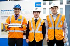 Apprentices working in Costain.  Abad Zalal is a  Procurement Apprentice working on London Bridge Station Redevelopment;  David Cassar is a technical apprentice working on Bond Street stations upgrade and Luc Williams, Apprentice Civil Engineer working on Paddington Crossrail.  Click the pic to hear from them about the exciting projects they're involved with, and why they're glad they chose the apprentices route.