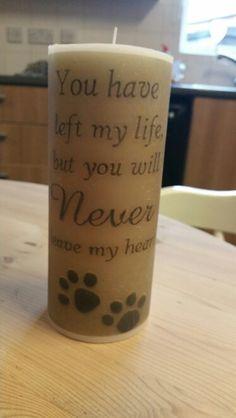 #petloss #dog #cat #rabbit Photo Candles, Pet Loss, Pillar Candles, Dog Cat, Rabbit, Homemade, Loss Of Pet, Bunny, Rabbits