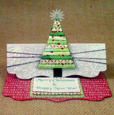 Christmas Tree Card by CardsByKitty on Etsy