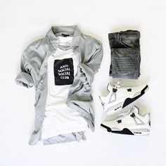 50 Awesome Outfit Grid Mens Summer Inspiration and Style # Swag Outfits, Cool Outfits, Casual Outfits, Boy Fashion, Mens Fashion, Fashion Outfits, Mode Man, Style Masculin, Casual Wear For Men