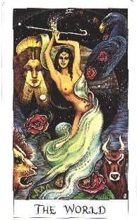 The World - Cosmic Tarot Find out what The World means for you: www.tarotbyemail.com