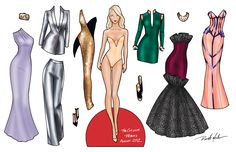 Fashion Paper Doll Template   The second doll represents Fame . She has a super-glamourous, super ...