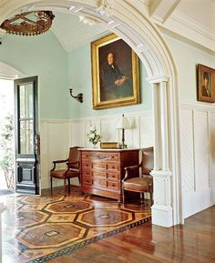 Stained pattern painted on wood | http://floorinterior.blogspot.com