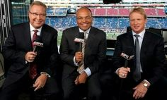 Ron Jawoski, Mike Tirico and Jon Gruden