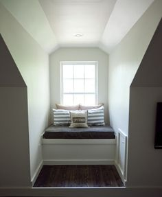 Attic rooms are challenging to furnish. Their charming-but-awkward features like sharply sloped ceilings and angular dormers can make furniture arrangement a real struggle. In these often odd-shaped rooms, the factors that most affect furniture placement and decor are the degree of the ceiling's slope and the size and position of the windows. One common solution for a slope-ceilinged attic room is to use the short space at the outer edges for low, built-in storage units, bookshelves, or ...