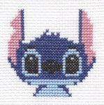 Stitch from Lilo and Stitch cross stitch by ~Lil-Samuu on deviantART