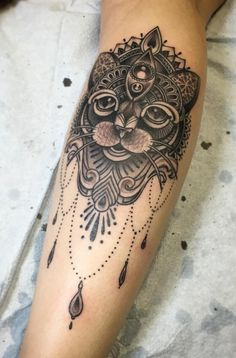 Cat Mandala by Stephen McConnell, Main Street Tattoo Collective, Winnipeg, Canada