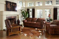 Country Leather Mission Usa Made Real Wood Furniture Sofa Chair Sectional