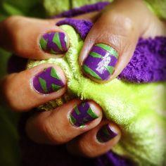 Purple and green. #nailart
