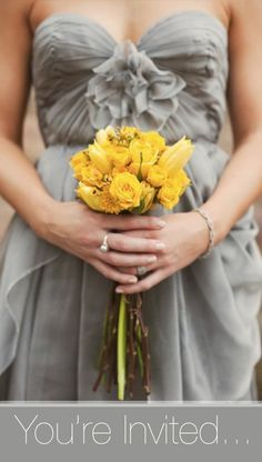 loving the yellow + grey wedding palette more and more... #weddingcolors