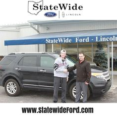 Jon Lassus taking delivery of his new Ford Explorer from Logan Rupert. Thank you for your business Jon.