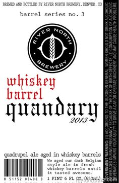 River North Whiskey Barrel Quandry Coming 11/30
