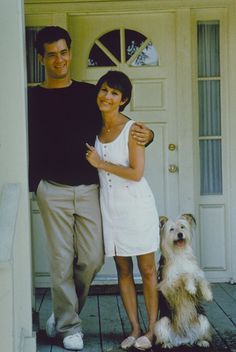 Tom Hanks, Carrie Fisher and Vince the dog in The 'Burbs (Joe Dante, The Burbs Movie, I Movie, Movie Stars, Carrie Frances Fisher, Corey Feldman, The 'burbs, The Munsters, Tom Hanks, Golden Age Of Hollywood