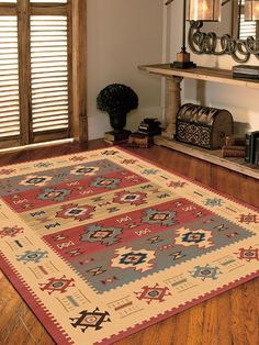 Covor sintetic bordurat de culoare natur, de efect antic. Bohemian Rug, Space, Rugs, Creative, Design, Home Decor, Houses, Floor Space, Farmhouse Rugs