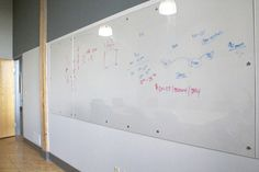 Plexiglass Wall instead of Whiteboard. Insert maps behind to draw on.