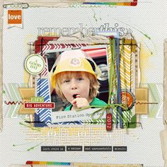 this scrapbook page has the WOW factor from mamabean at DesignerDigitals.com