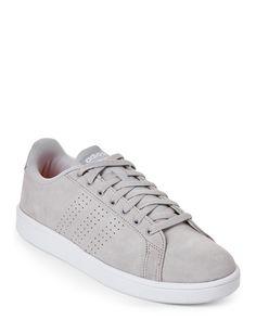 856c8384c09 Adidas Grey   White Neo Cloudfoam Advantage Clean Low-Top Sneakers