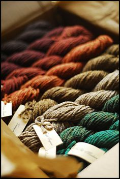 fall colored yarns