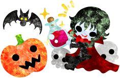 フリーのイラスト素材ハロウィンとジャックオランタンと可愛い吸血鬼 Free Illustration Halloween and jack-o-lanterns and a pretty vampire   http://ift.tt/2cZKo02