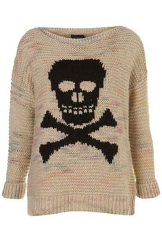 "Check out this @TOPSHOP ""Skull Motif: knit sweater $80, get it here http://rstyle.me/iant5vmtu6"