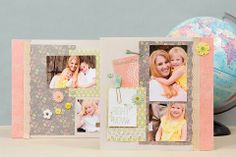 Pretty Scrapbook Layouts from the Club SEI February kit