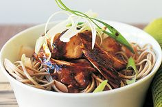 Soy chicken with pickled ginger soba noodles http://bit.ly/zzFcvX
