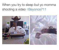 """beyase"" lmfaooooo too cute! Never noticed blu was smiling at her mommy dancing in video awesome lol Dankest Memes, Funny Memes, Jokes, Lol, Scream, Funny Cute, Hilarious, King B, Beyonce Memes"