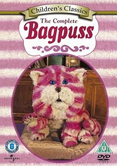 Bagpuss - The Complete Bagpuss (new & sealed DVD / Oliver Postgate John Faulkner, Children's Films, Movies, Amazon Dvd, Wooden Bookends, Uk History, British History, Theme Tunes, Frog Princess