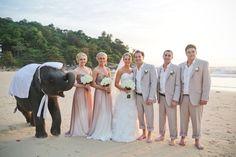 Ombré bridesmaid dress