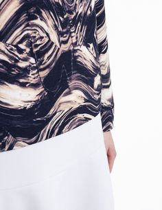 COS | Refined Distortion Fabric Textures, Textures Patterns, Textile Prints, Textiles, Distortion, Futurism, Tye Dye, Urban Fashion, Cos