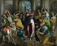 El Greco, La expulsión de los mercaderes.