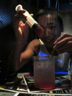 The Lock up is a fetish resturant in Japan that  needs to be experienced. (Get a reso!). When you get there you are handcuffed and brought to a jail cell. All sorts of crazy things happen. The food is all mad scientist'y.