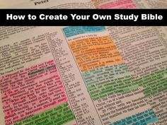 Books, Bargains, Blessings: How to Create Your own DIY Topical Study Bible