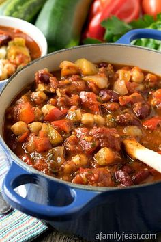 Vegetable Chili - This recipe is incredible! You'll never miss the meat in this delicious vegetable chili.
