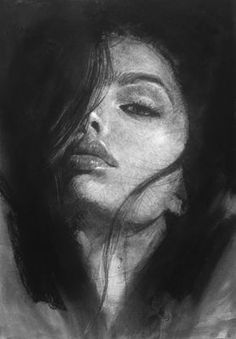 Untitled - Charcoal on paper Charcoal Drawing Tutorial, Charcoal Sketch, Charcoal Drawings, Pencil Drawings, Black And White Art Drawing, Black Paper Drawing, Portrait Sketches, Portrait Art, Charcoal Artists
