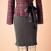 Graphite pencil skirt pattern | Love of Knitting Fall 2011 | Love of Knitting