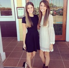 Sadie Robertson's hair is gorgeous even straight. They are in front of Willies Duck Diner I went there and the food is AWESOME they have some of mrs Kay's famous desserts and food!
