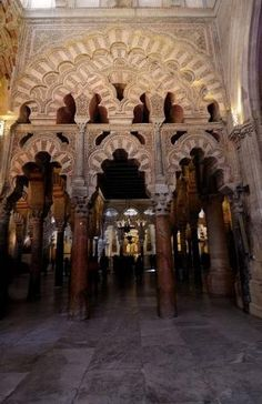 La Mezquita. Mosque-Cathedral of Córdoba, Spain. Visigothic Catholic Church from 600; Islam (784–1236) Catholic Church (1236–present) by Vickilt