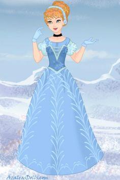 Cinderella Frozen style ~ by ToTheMoon Cinderella Prince, Disney Princess Dresses, Disney Princesses, Disney Movie Characters, Disney Movies, Disney Stuff, Disney High, Disney Art, Doll Divine