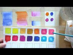 4 Watercolor Pencil Techniques - beginner - YouTube
