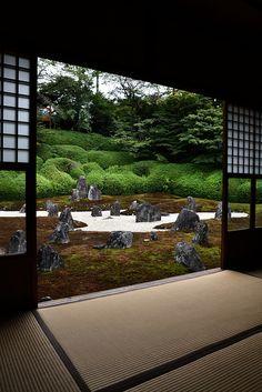 Japanese garden at Tofuku-ji Temple, Kyoto, Japan. Japanese Architecture, Landscape Architecture, Landscape Design, Garden Design, Japan Landscape, Feng Shui, Japan Garden, Kyoto Garden, Japanese House
