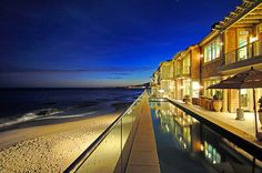 Elegant beach front residence on prestigious Carbon Beach in Malibu, CA.  Offered at $29,995,000  http://www.sallyforsterjones.com/listings.php?property_ID=732